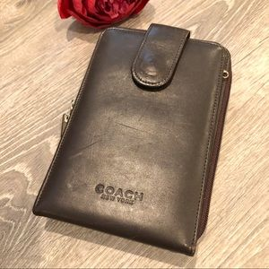 Coach Brown Leather Large Wallet / Clutch